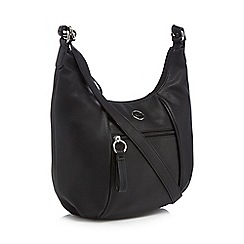 The Collection - Black zip detail shoulder bag