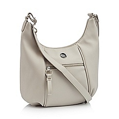 The Collection - Grey faux leather cross body bag