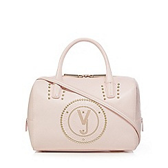 Versace Jeans - Light pink embossed bowler bag