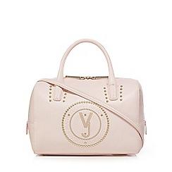 Versace Jeans Light Pink Embossed Bowler Bag