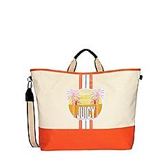 Juicy Couture - Cream canvas 'Parker' tote bag