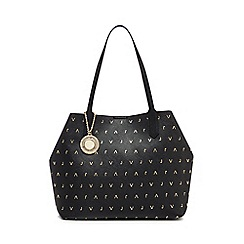 Versace Jeans - Black logo detail shopper bag