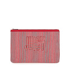 Juicy Couture - Red striped logo 'Zoey' pouch