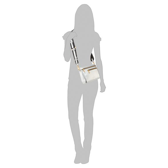 cross KYLIE bag 'Courtney' KENDALL body Silver 7SOdwx