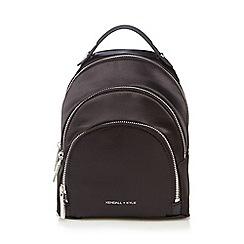 KENDALL + KYLIE - Black 'Sloane' satin mini backpack