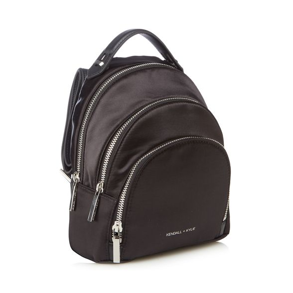 KENDALL satin Black mini 'Sloane' backpack KYLIE r84nqFr