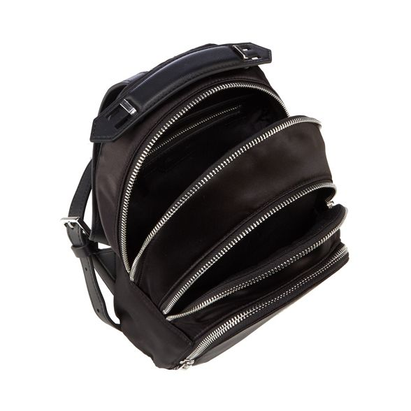KENDALL Black KYLIE mini 'Sloane' backpack satin q7UrqxA