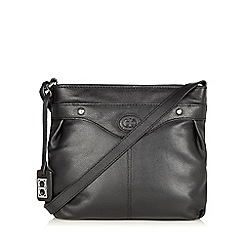 The Collection - Black leather cross body bag