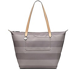 Radley - Taupe striped 'Pocket Essentials' large tote bag