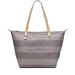 Radley Taupe Striped Pocket Essentials Large Tote Bag