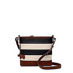 Radley Multi Coloured Striped Leather Babington Medium Crossbody Bag
