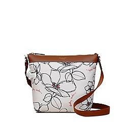Radley - Beige 'Linear Flower' medium crossbody bag