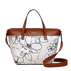 Radley - Off white 'Linear Flower' medium multiway grab bag