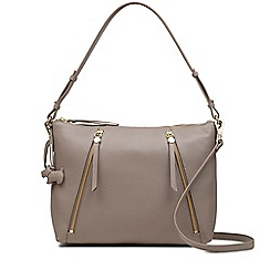 Radley - Taupe leather 'Fountain Road' medium multiway shoulder bag