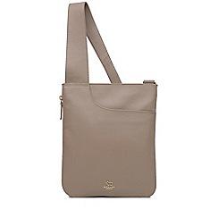 Radley - Taupe leather  Pockets  medium crossbody bag 17fe04e713fad