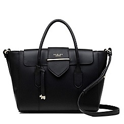 Radley - Black leather 'Palace Street' medium multiway grab bag