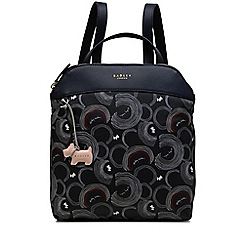 Radley - Navy printed 'Fenchurch Street' medium backpack