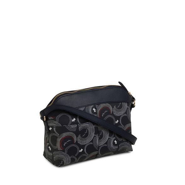 Radley printed Navy medium crossbody 'Fenchurch Street' bag BrBxdgw5