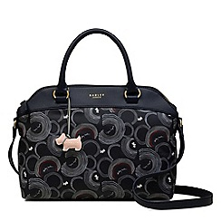 Radley - Navy printed 'Fenchurch Street' medium multiway grab bag