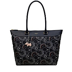 Radley - Navy printed 'Fenchurch Street' medium shoulder tote bag