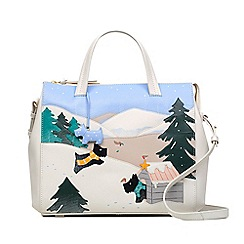 Radley - Limited Edition Ivory Leather 'At Home in the Snow' Large Grab Bag