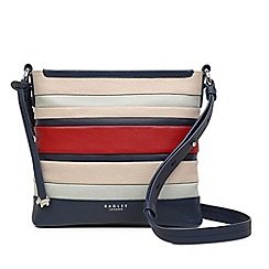 Radley - Multi-Coloured Leather Striped 'Eaton Hall' Medium Zip-Top Crossbody Bag