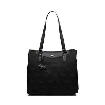 Radley Black Jacquard Print Large Multi-Compartment Shoulder Bag ... c63a797b353ea