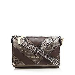 Valentino - Bronze 'Pritti Tracolla' block panel faux-leather cross-body bag