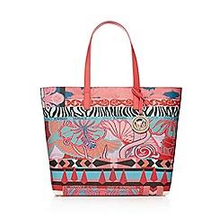 Versace Jeans - Pink print shoulder bag with inner bag