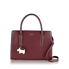 Radley - Medium burgundy leather 'Liverpool Street' grab bag