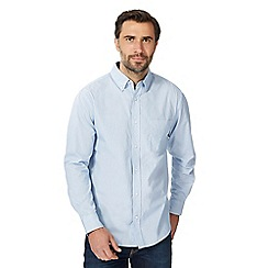 Maine New England - Big and tall blue broken stripe print shirt