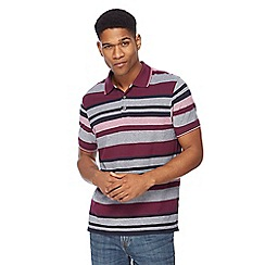 Maine New England - Big and tall purple stripe tailored fit polo shirt