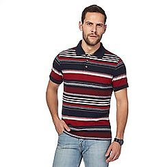Maine New England - Big and tall red striped tailored fit polo shirt
