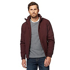 Maine New England - Big and tall dark red shower resistant blouson jacket