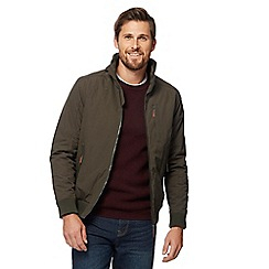 Maine New England - Big and tall khaki shower resistant blouson jacket