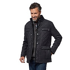 Maine New England - Grey herringbone quilted jacket