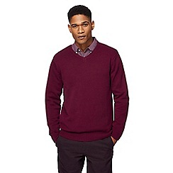 Maine New England - Purple V neck jumper
