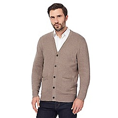 Maine New England - Light brown knitted cardigan