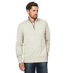 Maine New England - Big and tall natural textured jumper