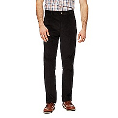 Maine New England - Big and tall black cord trousers