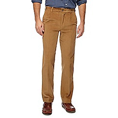 Maine New England - Blue corduroy tailored fit trousers