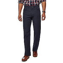 Maine New England - Big and tall navy pin dot straight trousers