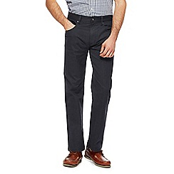 Maine New England - Big and tall navy puppytooth trousers