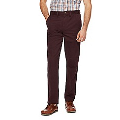 Maine New England - Big and tall dark red regular fit chinos
