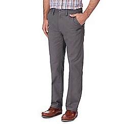 Maine New England - Big and tall grey regular fit chino trousers