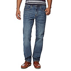 Maine New England - Big and tall blue stonewash straight fit jeans