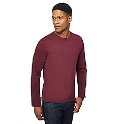 Maine New England - Wine red long sleeve crew neck t-shirt
