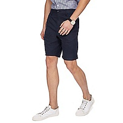 Maine New England - Big and tall navy mini checked shorts