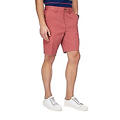 Maine New England - Big and tall dark pink mini checked shorts