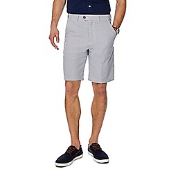 Maine New England - White and blue striped regular fit shorts